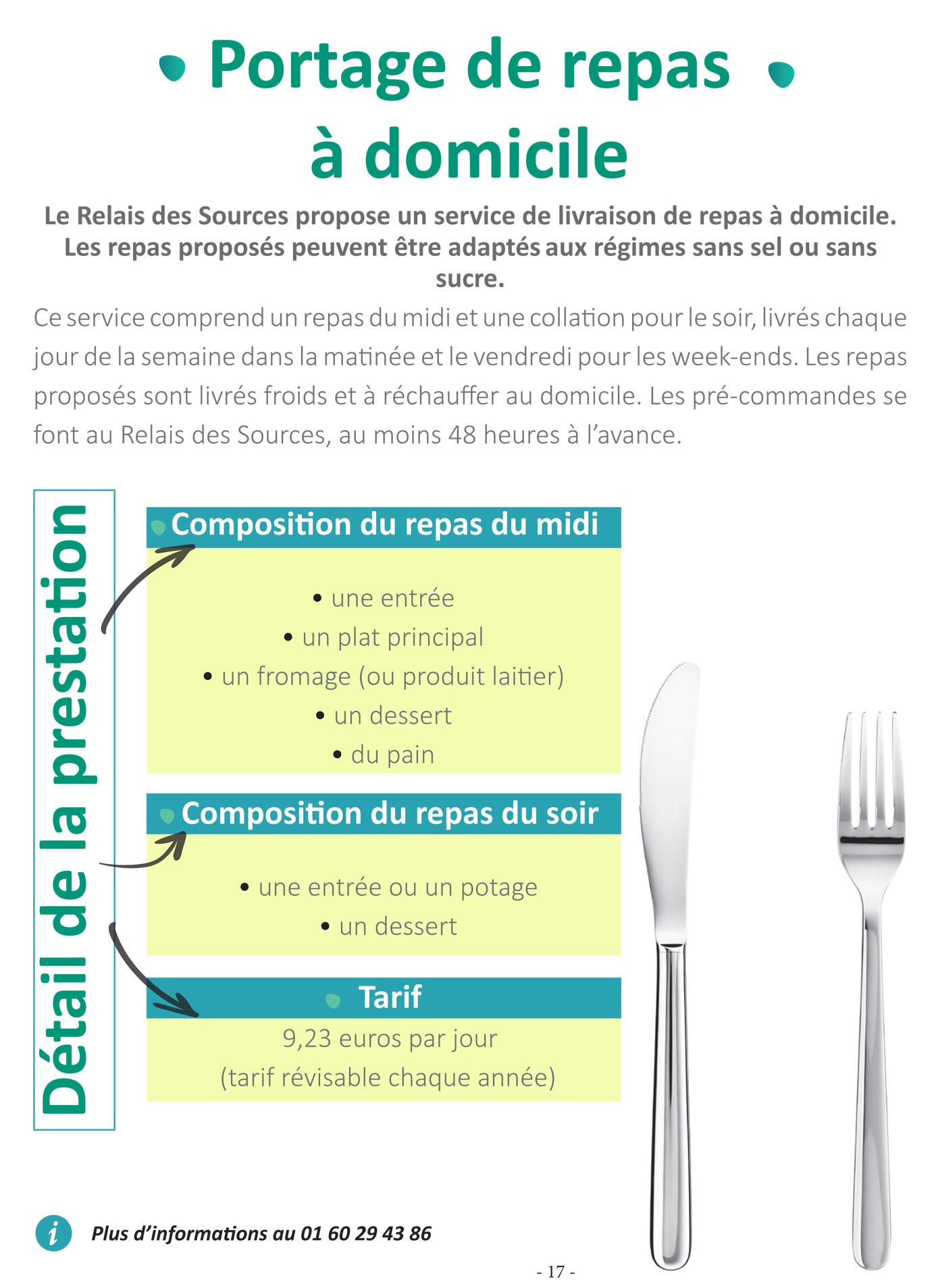 Portage des repas à domicile - Roissy en Brie